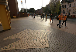 Fans make their way to Molineux Stadium - Mandatory by-line: Paul Roberts/JMP - 14/10/2017 - FOOTBALL - Molineux - Wolverhampton, England - Wolverhampton Wanderers v Aston Villa - Skybet Championship