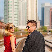 Kate & Gabe pictured at the Fulton Market District in Chicago on Saturday, October 15.