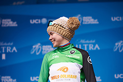 Anna van der Breggen (NED) retains the green jersey at Amgen Tour of California Women's Race empowered with SRAM 2019 - Stage 2, a 74 km road race from Ontario to Mount Baldy, United States on May 17, 2019. Photo by Sean Robinson/velofocus.com