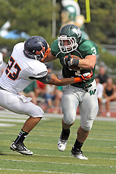28 September 2013:  T J Stinde during an NCAA division 3 football game between the Hope College Flying Dutchmen and the Illinois Wesleyan Titans in Tucci Stadium on Wilder Field, Bloomington IL