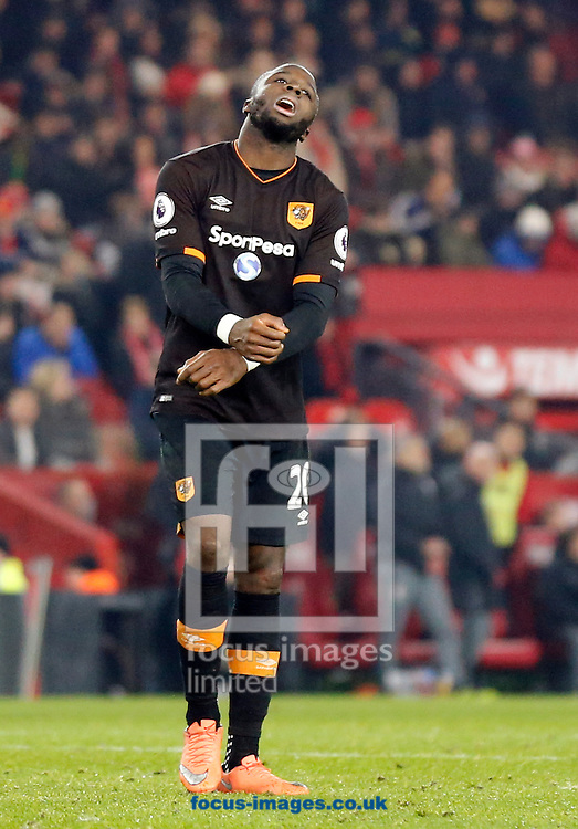Adama Diomande of Hull City Tigers rues a missed opportunity during the Premier League match at the Riverside Stadium, Middlesbrough<br /> Picture by Simon Moore/Focus Images Ltd 07807 671782<br /> 05/12/2016