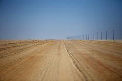 NAMIBIA DAMARALAND APR14 - Sun-soaked gravel road through the arid plains of the Damaraland.<br /> <br /> <br /> <br /> jre/Photo by Jiri Rezac<br /> <br /> <br /> <br /> © Jiri Rezac 2014