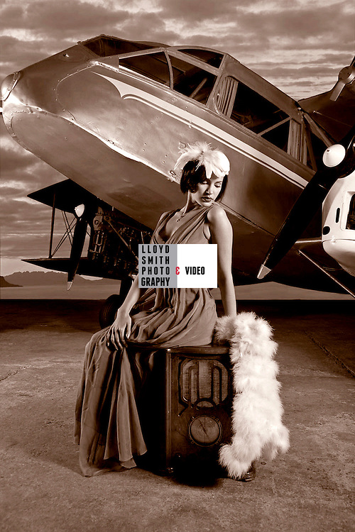 Aviation fashion shoot Museum of Fight <br /> <br /> Client :The best Scottish Weddings Magazine