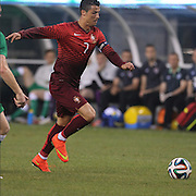Cristiano Ronaldo, Portugal, in action during the Portugal V Ireland International Friendly match in preparation for the 2014 FIFA World Cup in Brazil. MetLife Stadium, Rutherford, New Jersey, USA. 10th June 2014. Photo Tim Clayton