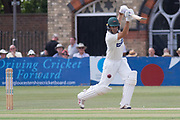 Neil Dexter cover drives for 4 during the Specsavers County Champ Div 2 match between Gloucestershire County Cricket Club and Leicestershire County Cricket Club at the Cheltenham College Ground, Cheltenham, United Kingdom on 15 July 2019.