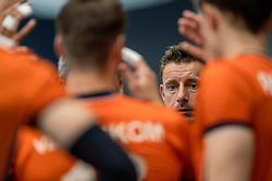 28-08-2016 NED: Nederland - Slowakije, Nieuwegein<br /> Het Nederlands team heeft de oefencampagne tegen Slowakije met een derde overwinning op rij afgesloten. In een uitverkocht Sportcomplex Merwestein won Nederland met 3-0 van Slowakije / Assistent coach Dirk Jan van Gendt