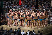 At the Osaka Spring Sumo Tournament