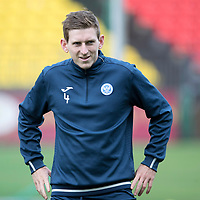 FK Trakai v St Johnstone…05.07.17… Europa League 1st Qualifying Round 2nd Leg<br />St Johnstone training at the LFF Stadium in Vilnius, Lithuania….Pictured Blair Alston during the training session<br />Picture by Graeme Hart.<br />Copyright Perthshire Picture Agency<br />Tel: 01738 623350  Mobile: 07990 594431