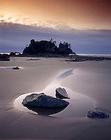 Evening at Point of the Arches Shi-Shi Beach, Olympic National Park Washington USA
