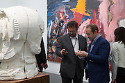 IVAN WIRTH; CALUM SUTTON, The VIP preview of Frieze. Regent's Park. London. 16 October 2013