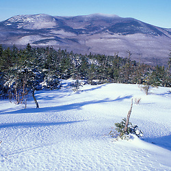 A beautiful winter day on Mt. Israel in the White Mountains (Sandwich Range).  Mt. Israel