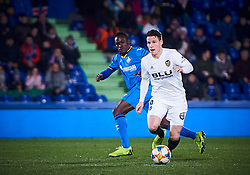 January 22, 2019 - Getafe, U.S. - GETAFE, SPAIN - JANUARY 22: Kevin Gameiro, forward of Valencia CF with the ball during the Copa del Rey match between Getafe CF and Valencia CF at Coliseum Alfonso Perez stadium on January 22, 2019 in Getafe, Spain. (Photo by Carlos Sanchez Martinez/Icon Sportswire) (Credit Image: © Carlos Sanchez Martinez/Icon SMI via ZUMA Press)