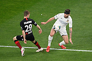 SYDNEY, AUSTRALIA - JULY 20: Leeds United defender Stuart Dallas (15) and Western Sydney Wanderers player Daniel Wilmering (29) fight for the ball during the club friendly football match between Leeds United and Western Sydney Wanderers FC on July 20, 2019 at Bankwest Stadium in Sydney, Australia. (Photo by Speed Media/Icon Sportswire)