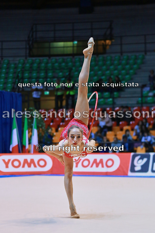 Aurora Peluzzi atleta della Società Petrarca Arezzo durante la seconda prova del Campionato Italiano di Ginnastica Ritmica.<br /> La gara si è svolta a Desio il 31 ottobre 2015.
