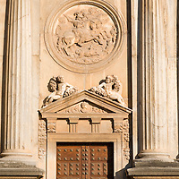 Detail from the facade, Palace of Charles V, Granada, Spain