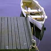 Grampie's Peapod.This peapod is made from light fiberglass and is a great little rowing and towing skiff. September 15, 2007 -- The wedding of Keith Emery and Beth Henderson at The Moorings in Phippsburg.  Photo by Roger S. Duncan.