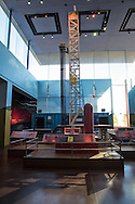 Model of a drilling rig at  the Fort Worth Museum of Science and History,