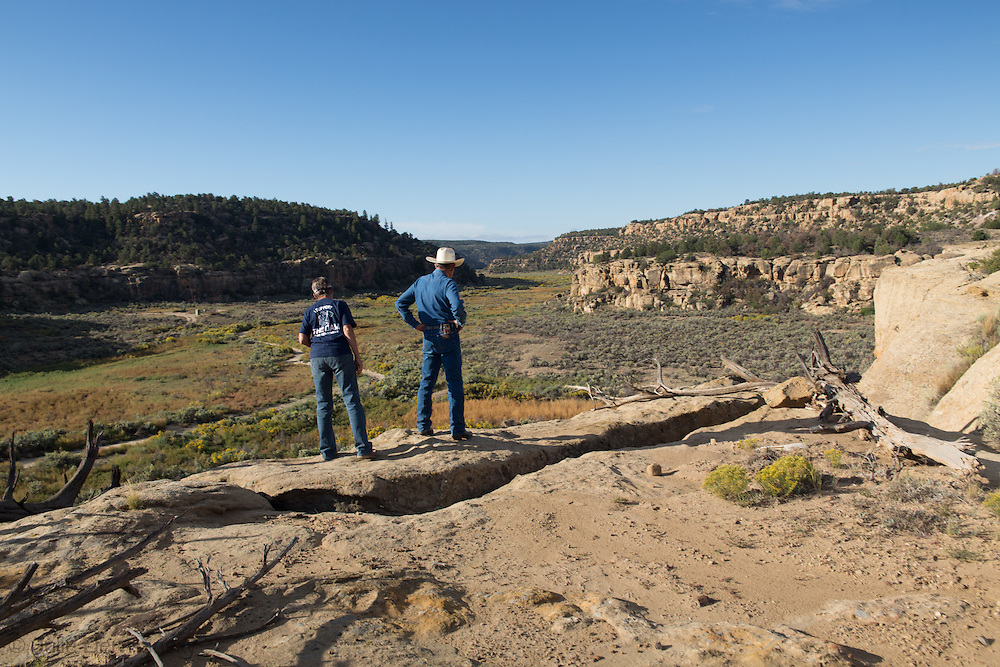 Jane and Don Schreiber on their  ranch in Blanco, New Mexico.