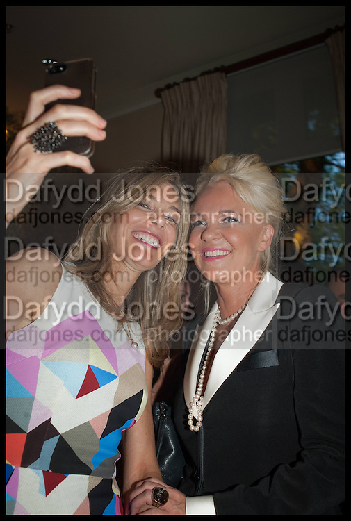 KIM HERSOV; AMANDA ELIASCH, Cartier dinner in celebration of the Chelsea Flower Show. The Palm Court at the Hurlingham Club, London. 19 May 2014.
