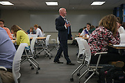 Dr. Chris Crawford, of Ohio University's College of Business, teaches an honors class at the College of Business Annex building on September 27, 2016.