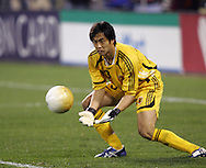 10 February 2006: Japan's goalkeeper Yoshikatsu Kawaguchi gathers the ball. The United States Men's National Team led Japan 3-0 early in the second half at the Pac Bell Park in San Francisco, California in an International Friendly soccer match.