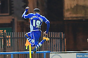 Nathaniel Mendez-Laing goal during the Sky Bet League 1 match between Rochdale and Port Vale at Spotland, Rochdale, England on 28 November 2015. Photo by Daniel Youngs.