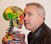Damien Hirst portrait in his Studio 2010
