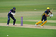 Aiden Markram of Hampshire batting during the Royal London One Day Cup match between Hampshire County Cricket Club and Middlesex County Cricket Club at the Ageas Bowl, Southampton, United Kingdom on 23 April 2019.