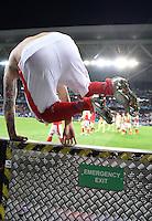 FUSSBALL EURO 2016 GRUPPE A IN LILLE Schweiz - Frankreich     19.06.2016 Haris Seferovic (Schweiz) nimmt den Notausgang