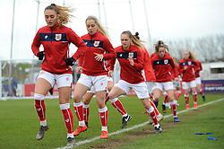 Bristol City Women warm up prior to kick off- Mandatory by-line: Nizaam Jones/JMP- 31/03/2019 - FOOTBALL - Stoke Gifford Stadium - Bristol, England - Bristol City Women v Reading Women - FA Women's Super League 1