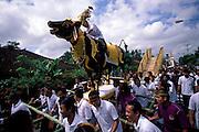 INDONESIA:  Bali..Funeral for an important village elder, Lukluk