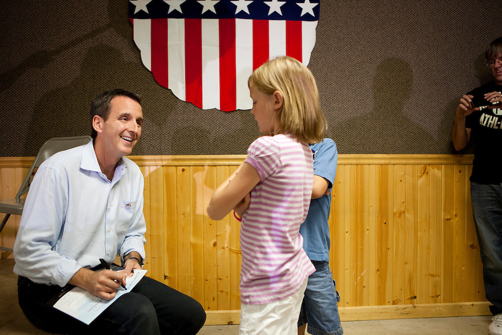 Republican presidential hopeful Tim Pawlenty campaigns on Tuesday, August 9, 2011 in Humboldt, IA.