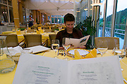 Parkhotel Tristacher See, Tyrol, Austria. Dinner at the restaurant.