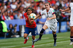 2019?6?17?.   ???????????——F??????????.    6?16?????????????????????????????  .   ?????????????????2019??????????F??????????3?0??????.   ?????????..SP-FRANCE-PARIS-FIFA WOMEN'S WORLD CUP-GROUP F-USA-CHILE.(1906017) -- PARIS, June 17, 2019  Tierna Davidson (R) of the United States competes with Daniela Zamora () of Chile during the Group F match between the United States and Chile at the 2019 FIFA Women's World Cup in Parc des Princes in Paris, France, June 16, 2019.  The United States won 3-0. (Credit Image: © Xinhua via ZUMA Wire)
