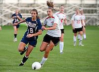 Girls varsity soccer Laconia versus Merrimack Valley High School September 7, 2010.