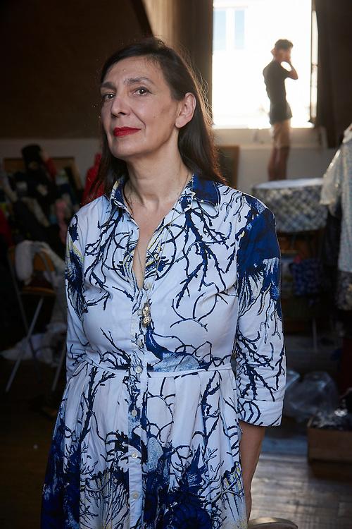Lisboa, 02/08/2016 - A estilista de origem bósnia Lidija Kolovrat, a residir em Portugal há mais de 20 anos fala da sua experiência de vida no no país.(Paulo Alexandrino / Global Imagens)