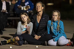 November 1, 2018 - Pasadena, California, United States - People gather for a United Against Hate interfaith event in solidarity with the Jewish community following the deadly shooting at Tree of Life Synagogue in Pittsburgh. Pasadena, California on November 1, 2018. Suspected gunman, Robert Bowers, killed 11 people as he fired into the synagogue during Sabbath service. (for editorial use only) (Credit Image: © Ronen Tivony/NurPhoto via ZUMA Press)