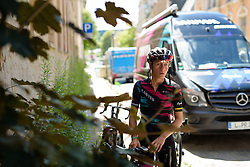 Trixi Worrack (CANYON//SRAM Racing) makes her final preparations for Thüringen Rundfarht 2016 - Stage 5 a 99km road race starting and finishing in Greiz, Germany on 19th July 2016.