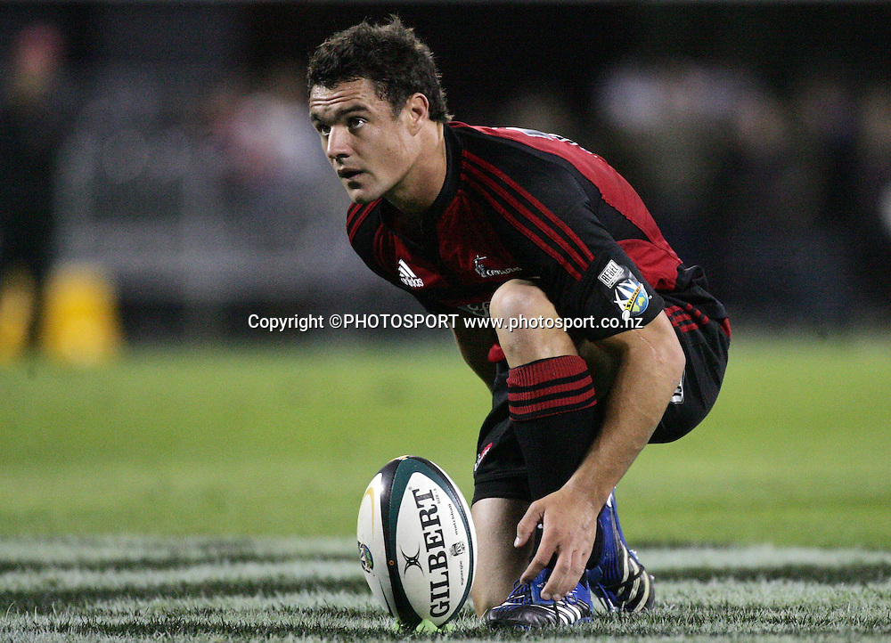 Dan Carter. Super 14, Crusaders v Cheetahs, AMI Stadium, Christchurch, Saturday 15 March 2008. Photo: Renee McKay/PHOTOSPORT