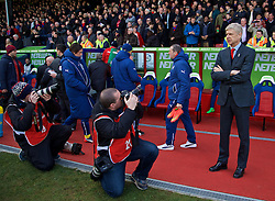 LONDON, ENGLAND - Saturday, February 21, 2015: Arsenal's manager Arsene Wenger before the Premier League match against Crystal Palace at Selhurst Park. (Pic by David Rawcliffe/Propaganda)