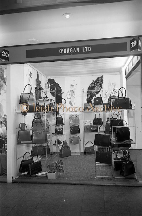 24/04/1964<br /> 04/24/1964<br /> 24 April 1964 <br /> O'Hagan Ltd. handbags stand at the Irish Export Fashion Fair at the Intercontinental Hotel, Dublin. For O'Hagan Ltd. Bray, Co. Wicklow.