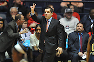 "Mississippi Lady Rebels head coach Matt Insell vs. Georgia Tech in the WNIT at the C.M. ""Tad"" Smith Coliseum in Oxford, Miss. on Sunday, March 22, 2015. Ole Miss won 63-48.(AP Photo/Oxford Eagle, Bruce Newman)"