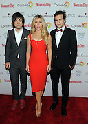Grammy Award-winning sibling trio The Band Perry arrives at Woman's Day Red Dress Awards, benefitting American Heart Association's Go Red For Women, Tuesday, Feb. 9, 2016, in New York. (Photo by Diane Bondareff/Invision for Go Red For Women/AP Images)