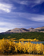 AA01130-03...MONTANA - Fall time around Lower Two Medicine Lake in Glacier National Park.