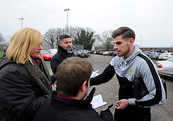 Yeovil Town's Joe Edwards signs autographs   - Photo mandatory by-line: Joe meredith/JMP - Mobile: 07966 386802 - 04/01/2015 - SPORT - football - Yeovil - Huish Park - Yeovil Town v Manchester United - FA Cup - Third Round