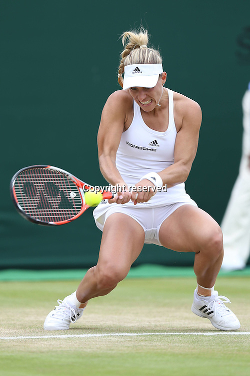 04.07.2016. All England Lawn Tennis and Croquet Club, London, England. The Wimbledon Tennis Championships Day 8.  Angelique Kerber, GER