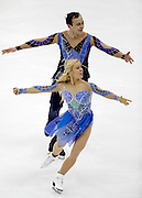 Kseniya Ponomaryova and Oleg Altukhov perform during the championship free dance competition at the U.S. Figure Skating Championships Saturday, Jan. 21, 2017, in Kansas City, Mo. (AP Photo/Colin E. Braley)