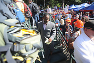 Desmond Howard during ESPN's College Gamday in the Grove in Oxford, Miss. on Saturday, October 4, 2014. The broadcast was ESPN College Gameday's first ever from Ole Miss.