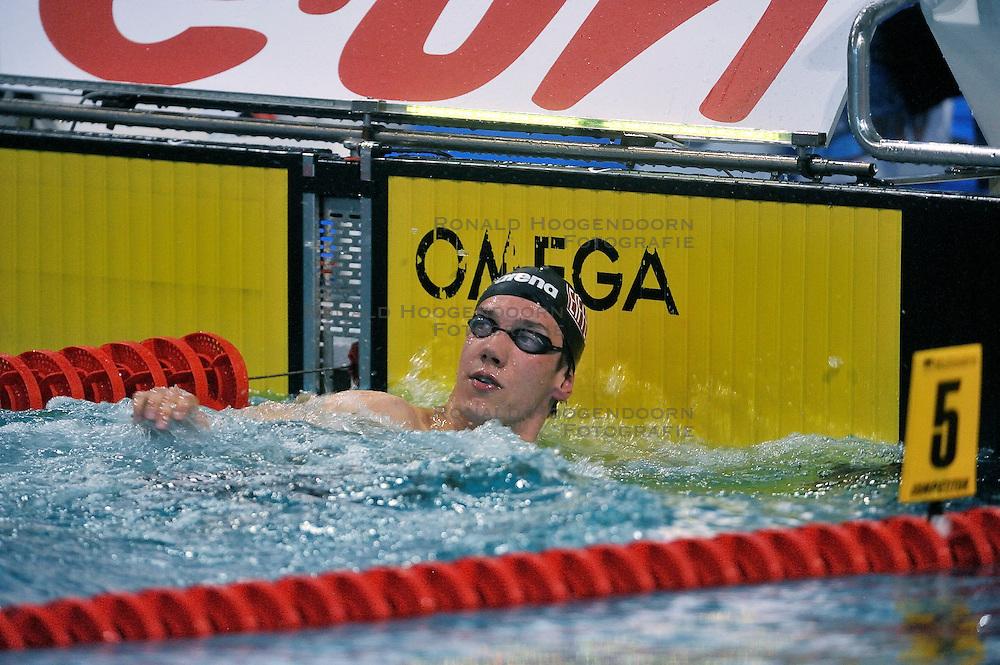 08-04-2011 ZWEMMEN: SWIMCUP: EINDHOVEN<br /> Job Kienhuis heeft op de tweede dag van de Swim Cup het Nederlands record op de 800 meter vrije slag verbeterd.<br /> &copy;2011 Ronald Hoogendoorn Photography