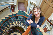 for OBSEERVER - THE NEW REVIEW - photo by Howard Barlow<br /> Actress PAULINE McLYNN (of Father Ted fame) photographed in Sheffield where she is rehearsing for the play Happy Days
